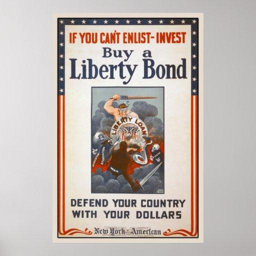 1918 World War I Liberty Bond Poster