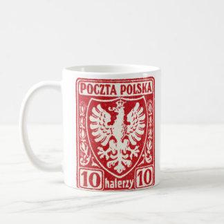 1919 10h Polish Eagle Stamp Basic White Mug