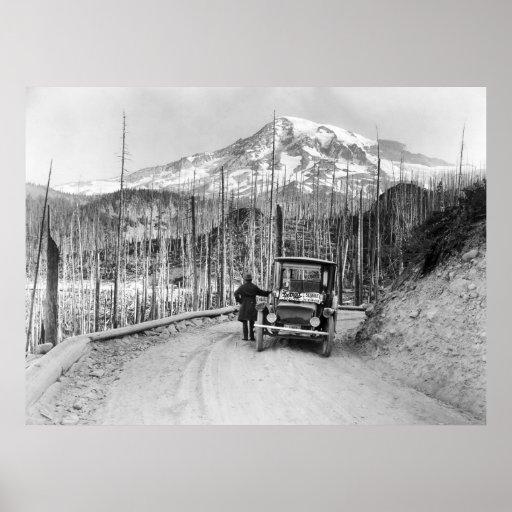 1919 Electric Car Print