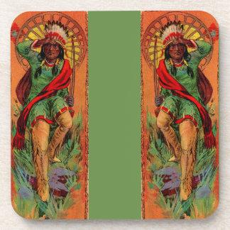 1919 Native American Indian illustration Coaster