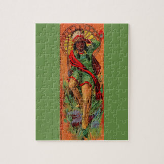 1919 Native American Indian illustration Jigsaw Puzzle
