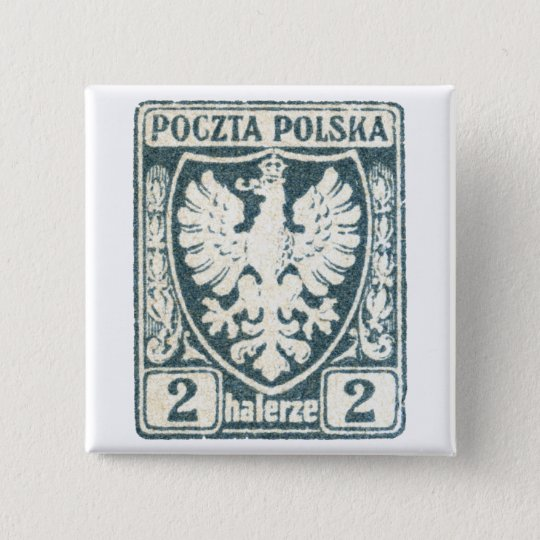 1919 Polish Eagle 2h Postage Stamp 15 Cm Square Badge