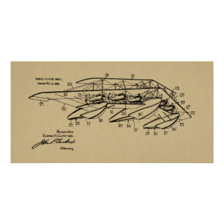 1920 Airplane Boat Patent Drawing Art Print