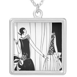 1920 Art Deco Fashion Necklace (White)