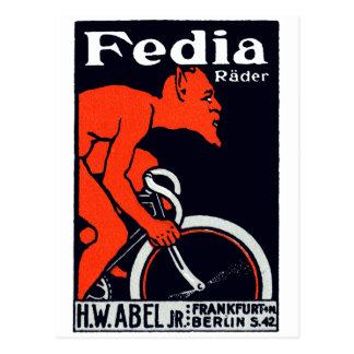 1920 Devil Riding a Bicycle Postcards