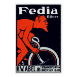 1920 Devil riding a Bicycle Poster