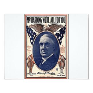 1920 Harding 11 Cm X 14 Cm Invitation Card