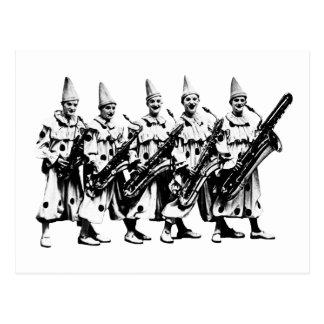 1920 Jazz Clowns, black Post Cards
