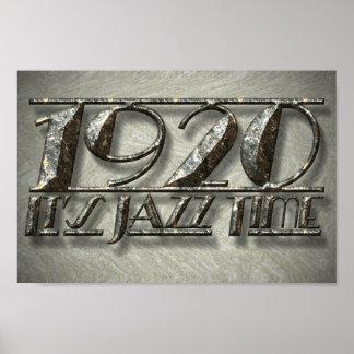 1920 Jazz Time Dance Style Music Vintage Billboard Poster