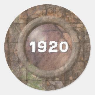 1920 Just A Date Round Sticker
