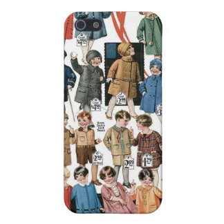 1920 Kids Coats & Hats Ad Label Speck Case iPhone4 iPhone 5 Cases