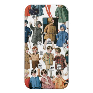 1920 Kids Coats & Hats Ad Label Speck Case iPhone4 iPhone 4 Cases