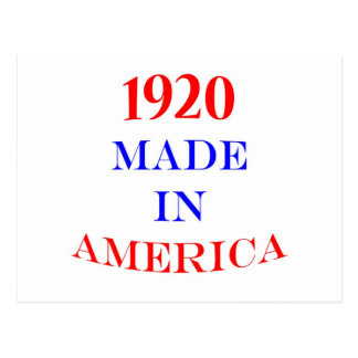 1920 Made in America Postcard