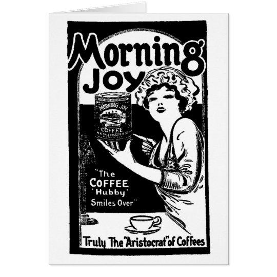 1920 Morning Joy Coffee Newspaper Ad Card