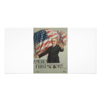 1920 Presidential Campaign Photo Card Template