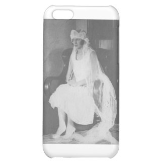 1920 s Bride waiting sitting in chair Case For iPhone 5C
