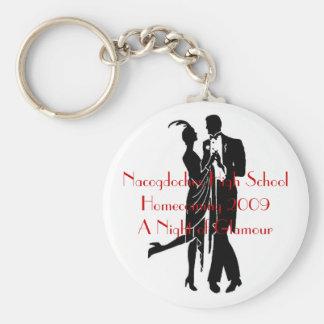 1920 s couple Nacogdoches High SchoolHomecomin Keychain