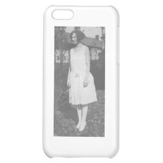 1920 s Lady in White Dress Cover For iPhone 5C