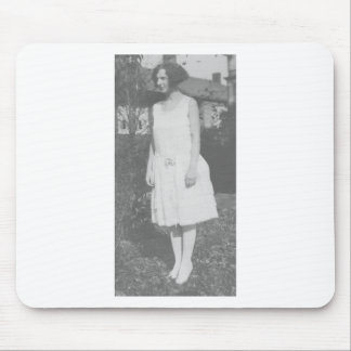 1920 s Lady in White Dress Mousepads