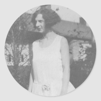1920 s Lady in White Dress Stickers