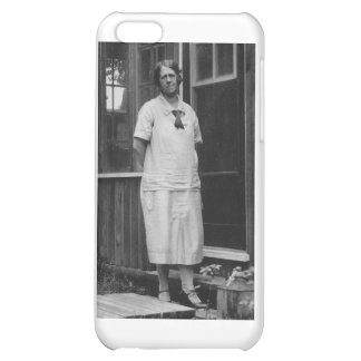 1920 s Lady standing outside of building iPhone 5C Cover
