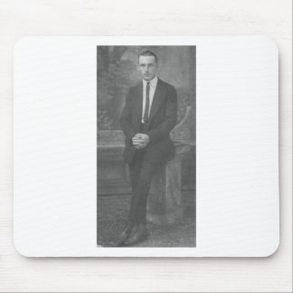 1920 s Man Standing Mouse Pads