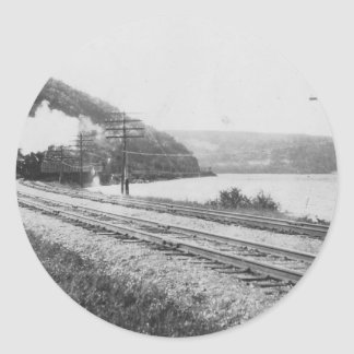 1920 s Train on Track Sticker