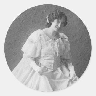 1920 s Wedding Photo of Bride Sticker