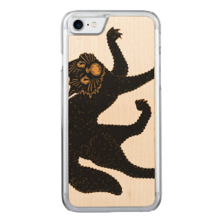 1920 Scary Black Cat Carved iPhone 7 Case