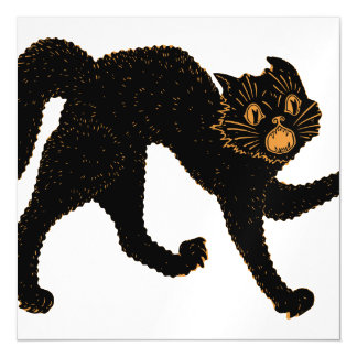 1920 Scary Black Cat Magnetic Invitations