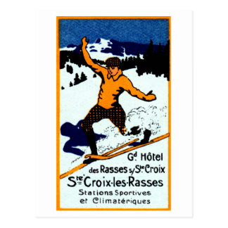 1920 St. Croix Winter Sports Poster Post Cards