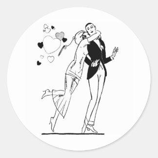 1920 Valentine Lovers Classic Round Sticker
