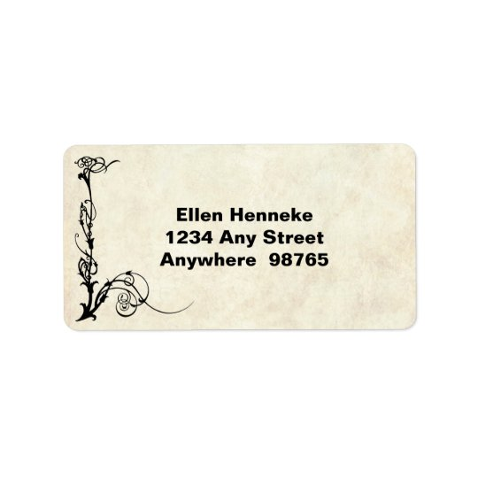 1920s Actress in Sepia Address Label