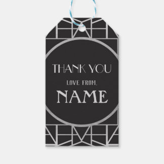 1920's Art Deco Birthday Gatsby Thank You Tags 20s