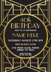 great gatsby party invitations announcements zazzle uk