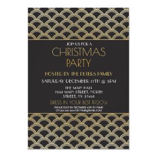 1920's Art Deco Christmas Gatsby Party Invitation