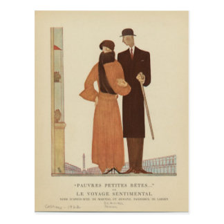 1920s Art Deco Couple ~ The Sentimental Journey Postcard