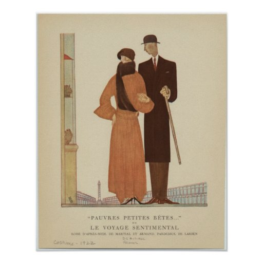 1920s Art Deco Couple ~ The Sentimental Journey