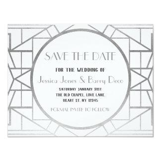 1920s Art Deco Gatsby Save The Date Wedding Invite