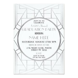 1920's Art Deco Graduation Party Gatsby 20s Invite