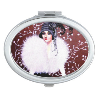 1920's Art Deco Lady - Compact Mirror