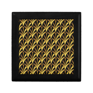 1920's Art Deco Style Fan Pattern in Black & Gold Gift Box