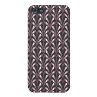 1920's Art Deco Style Fan Pattern in Pink & Grey iPhone 5 Cover