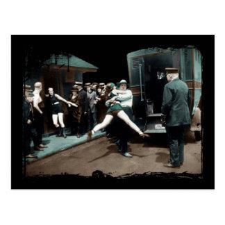 1920's Bathing Suit Arrests Postcard