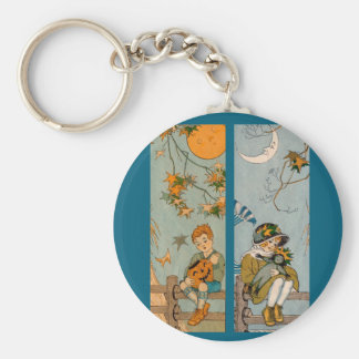 1920s boy and girl in autumn key ring