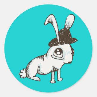1920s Bunny Round Sticker