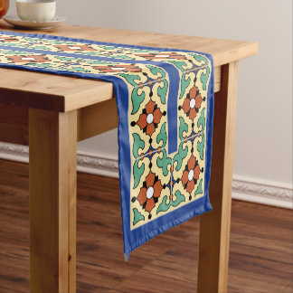 1920s Catalina Island Tile Design Table Runner