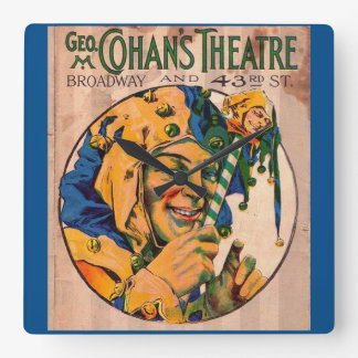 1920s Cohan's Theatre playbill cover Square Wall Clock