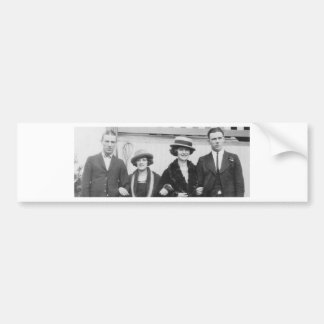 1920's Couples Night Out Car Bumper Sticker