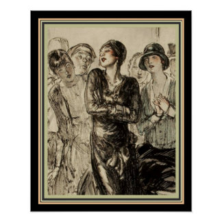 1920's Deco Magazine Illustration 16 x 20 Poster